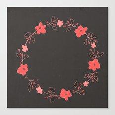 coral blossoms Canvas Print