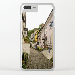 CLOVELLY MAIN STREET NORTH DEVON Clear iPhone Case