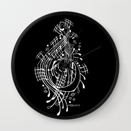 music black Wall Clock