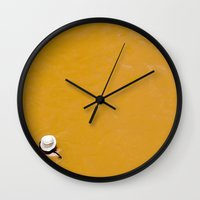 chile Wall Clocks featuring Banos Morales, Chile by Kate Denman