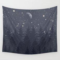 Night Full Star Wall Tapestry