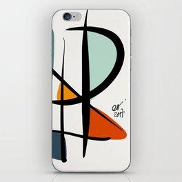 Abstract Minimal Lyrical Expressionism Art Blue Orange iPhone Skin