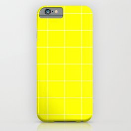 Graph Paper (White & Yellow Pattern) iPhone Case