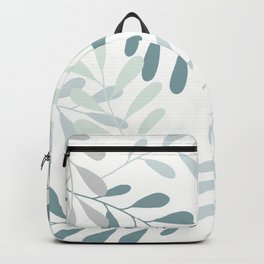 Shades of Green Teal Botanicals Backpack