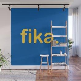 Fika Gul & Blå Wall Mural
