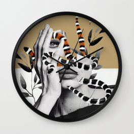 Woman and snakes Wall Clock