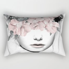 WOMAN WITH FLOWERS 10 Rectangular Pillow