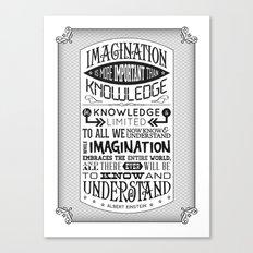 Einstein Imagination Quote poster Canvas Print