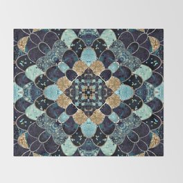REALLY MERMAID - MYSTIC BLUE Throw Blanket