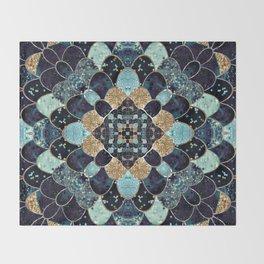 REALLY MERMAID - MYSTIC BLUE Throw Blanket