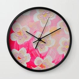 Pink Orchard Wall Clock