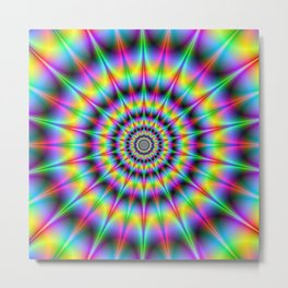 Spiked Psychedelic Rings Metal Print