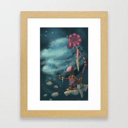 Hitching Framed Art Print