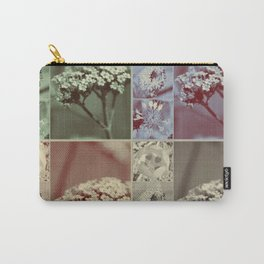 Vintage Retro Flower Collage Carry-All Pouch