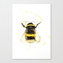 ORIGINAL WATECOLOR BUMBLE BEE Canvas Print