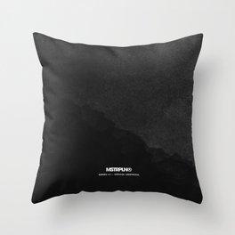 Minimal Splash - Dark Throw Pillow