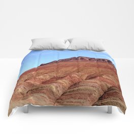 colorful mineral mountain photography 2 Comforters