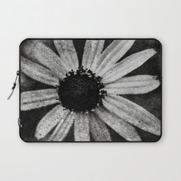 Flower in Black and white Laptop Sleeve