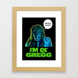 Old Gregg Framed Art Print