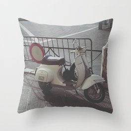 Scooter Italia Throw Pillow