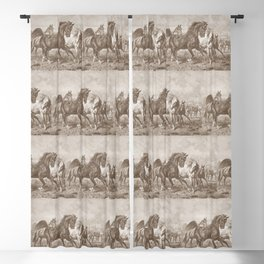 HORSES ON A PASTURE  Blackout Curtain