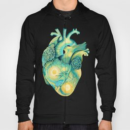 Anatomical Human Heart - Starry Night Inspired Hoody