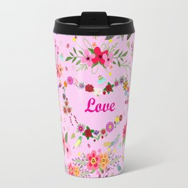 Say I love you with flowers Travel Mug