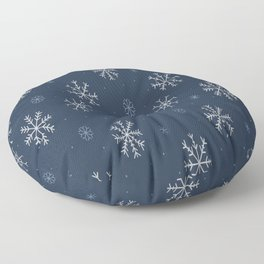 Artistic snowflakes pattern Floor Pillow