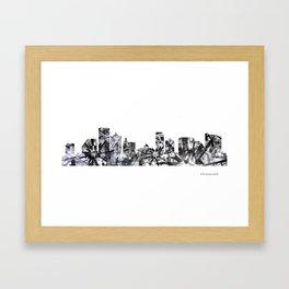 Atlantic City B&W - Splatter Framed Art Print