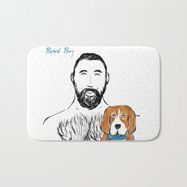 Beard Boy Pup 1 Bath Mat