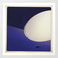 blue light disco Art Print