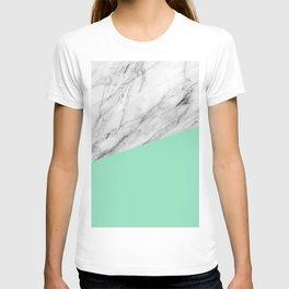 Carrara Marble and Sea Color T-shirt