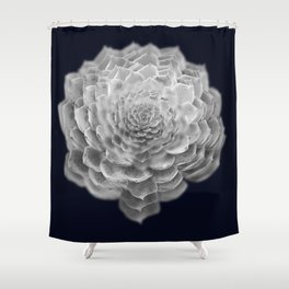 Succulents collage 2 Shower Curtain