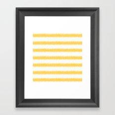Ikat Stripe Yellow Framed Art Print