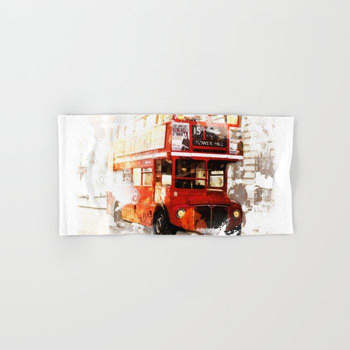 London Bus Hand & Bath Towel