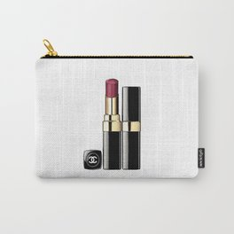 LIPSTICK PRINT Makeup Print Lipstick Print,Makeup Painting Glam Room  Fashion Painting Carry-All Pouch