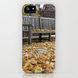 Autumn leves iPhone Case