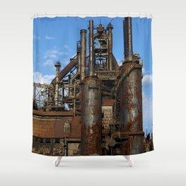 Bethlehem Steel Blast Furnaces Shower Curtain