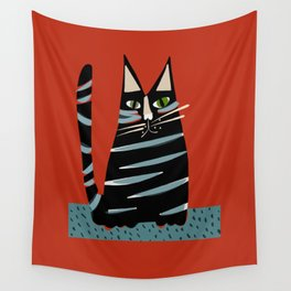 Tabby cat Wall Tapestry