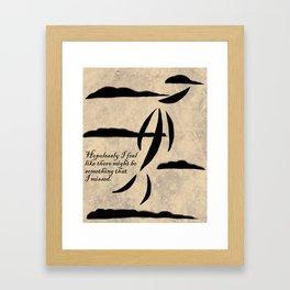 Hopelessly Framed Art Print
