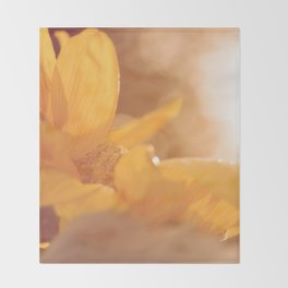 Sun Flare Sunflower Throw Blanket