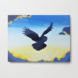 Wings of Night Metal Print