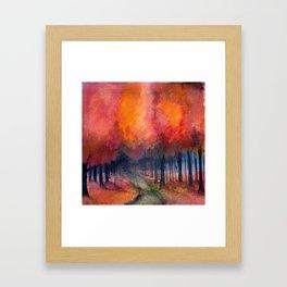 Nighttime Autumn Landscape Nature Art Framed Art Print