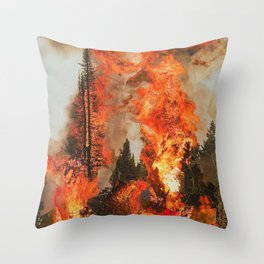 Fire Study #1 Throw Pillow