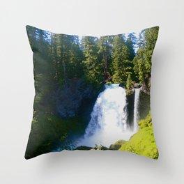 Gushing Waterfall Throw Pillow
