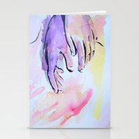 hands Stationery Cards featuring Hands by SirScm