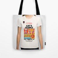 vonnegut Tote Bags featuring Vonnegut - Cat's Cradle by Neon Wildlife