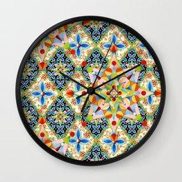 Elizabethan Blossom Starburst Wall Clock
