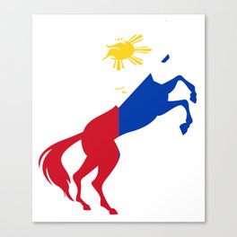Unicorn Philippines Flag Magical Unicorn Pinoy Canvas Print