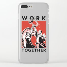 Work Together Clear iPhone Case